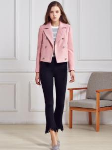 都市衣柜女装粉色短外套