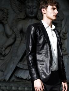 新升流派男装黑色夹克