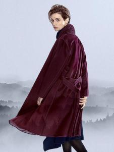 安瑞井女装安瑞井女装酒红色外套