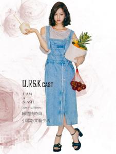 Q.R&K CAST2016秋冬新品牛仔长裙