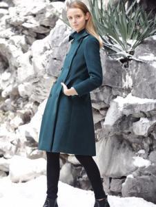 女士雙排扣大衣