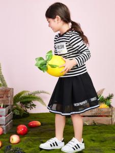 poipoilu2017春夏装黑色蓬裙