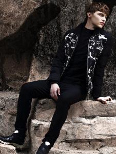 新升流派黑白撞色棉服