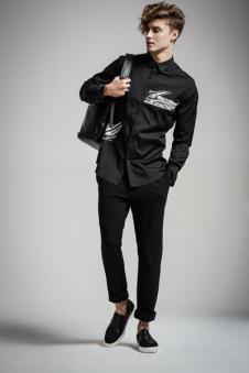 弗朗?费雷男装黑色衬衫