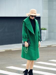艾米秋冬廓形长款大衣