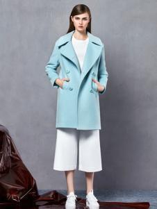 奥伦提2016冬款浅蓝色韩版大衣