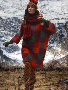 阁兰秀女装格子大款毛衣