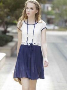 凯迪·米拉女装褶皱雪纺裙