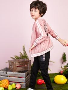 poipoilu2017春夏装粉色休闲外套