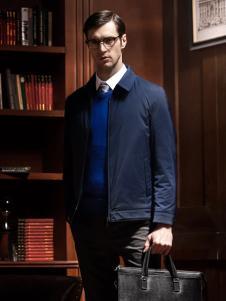 爱迪丹顿蓝色修身版秋冬外套