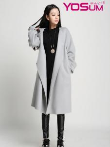 优尚美灰色简约欧版大衣