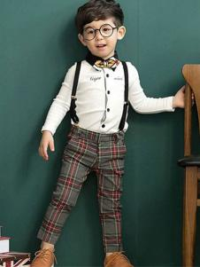 库克努比童装2016新品男童背带裤