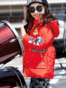玛玛米雅女童红色羽绒服