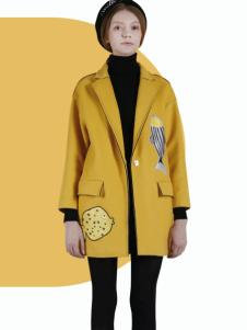 DOTACOKO女士黄色休闲大衣