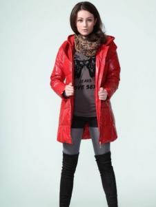 GR&CF歌瑞丝芬女装红色棉衣