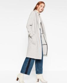 dm冬季新品灰色韩版修身大衣