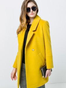 衣佰芬秋冬黄色大衣