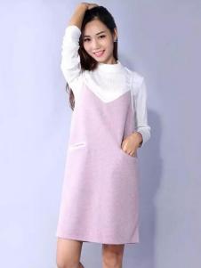 YES女粉色吊带裙
