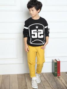 一休童装2016新品男童数字印花T恤