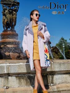 迪奥女装2016冬季新款印花大衣