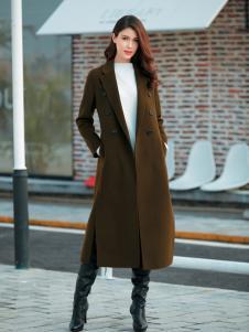 金蝶茜妮军绿色韩版修身大衣