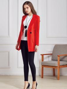 都市衣柜红色简约外套