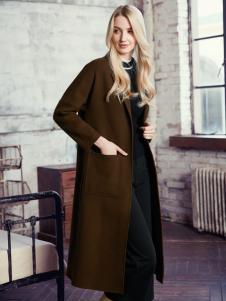 知彩2016冬装新款双面呢大衣