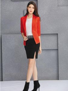 金蝶茜妮红色修身版西装外套