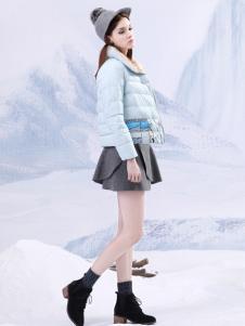 艺域2016秋冬短款羽绒服
