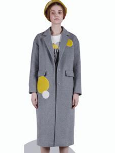 DOTACOKO女士长款修身大衣
