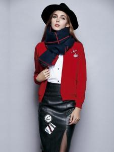 楚阁女装红色短款外套
