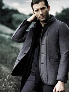 九九良品男装立领呢大衣