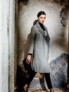 尚约时尚高级灰大衣新款