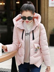 CH-21冬季粉色浪漫外套