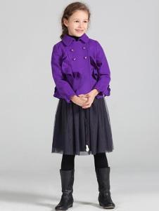 蔚雅乐童装紫色外套