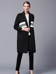 画而诗时尚修身长款大衣