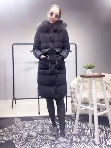 阿莱贝琳黑色H版羽绒服