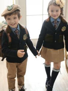明日之星2016新品西服式幼儿园园服