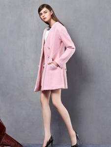奥伦提2016冬季新款粉色外套