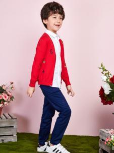 poipoilu2017男童红色毛衫