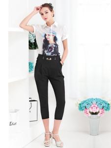 冰晶怡人女装2016新品七分裤