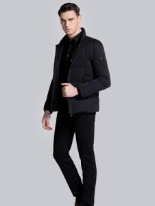 贝克狮丹黑色短款棉服