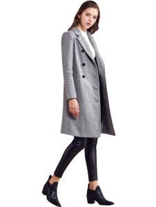 都市衣柜灰色韩版修身大衣