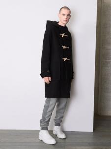 Balenciaga 2016新品带帽长款大衣