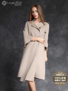 容悦女装2016秋冬新品双面尼大衣