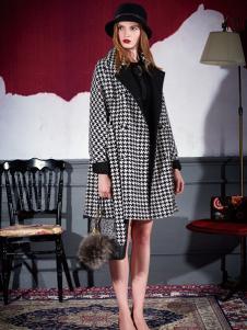 米祖女士格子大衣