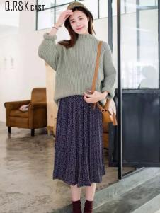 Q.R&K CAST2016秋冬新品条纹毛衣