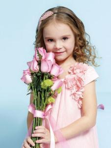 艾艾屋童装粉色A版裙