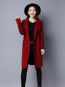 色弋瑞红色时尚大衣新款