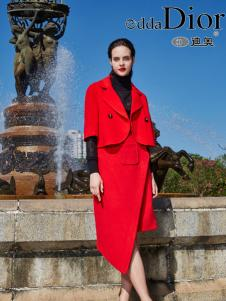 迪奥女装2016冬季新款红色套装